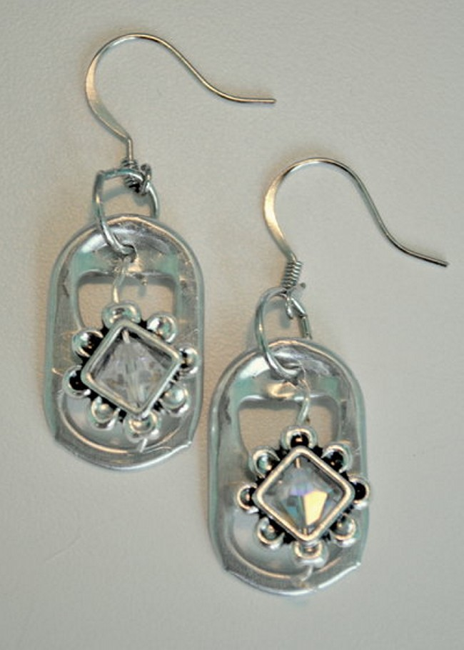 Upcycled Soda Can Tab Earrings