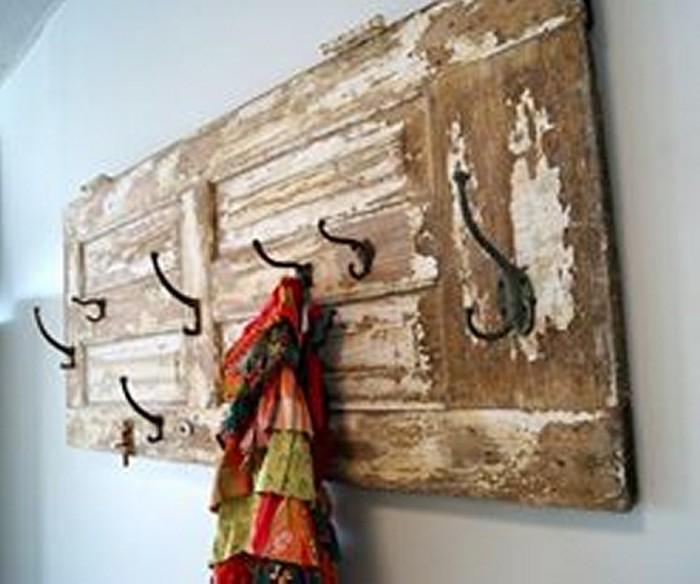 Upcycled Wood Door Shelf