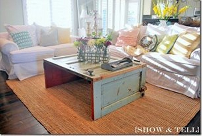 Upcycled Wood Door Table