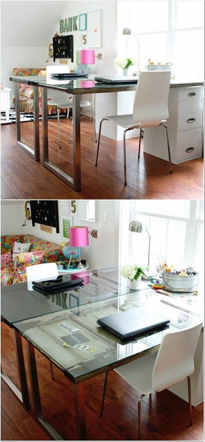 Upcycled Wood Door Tables