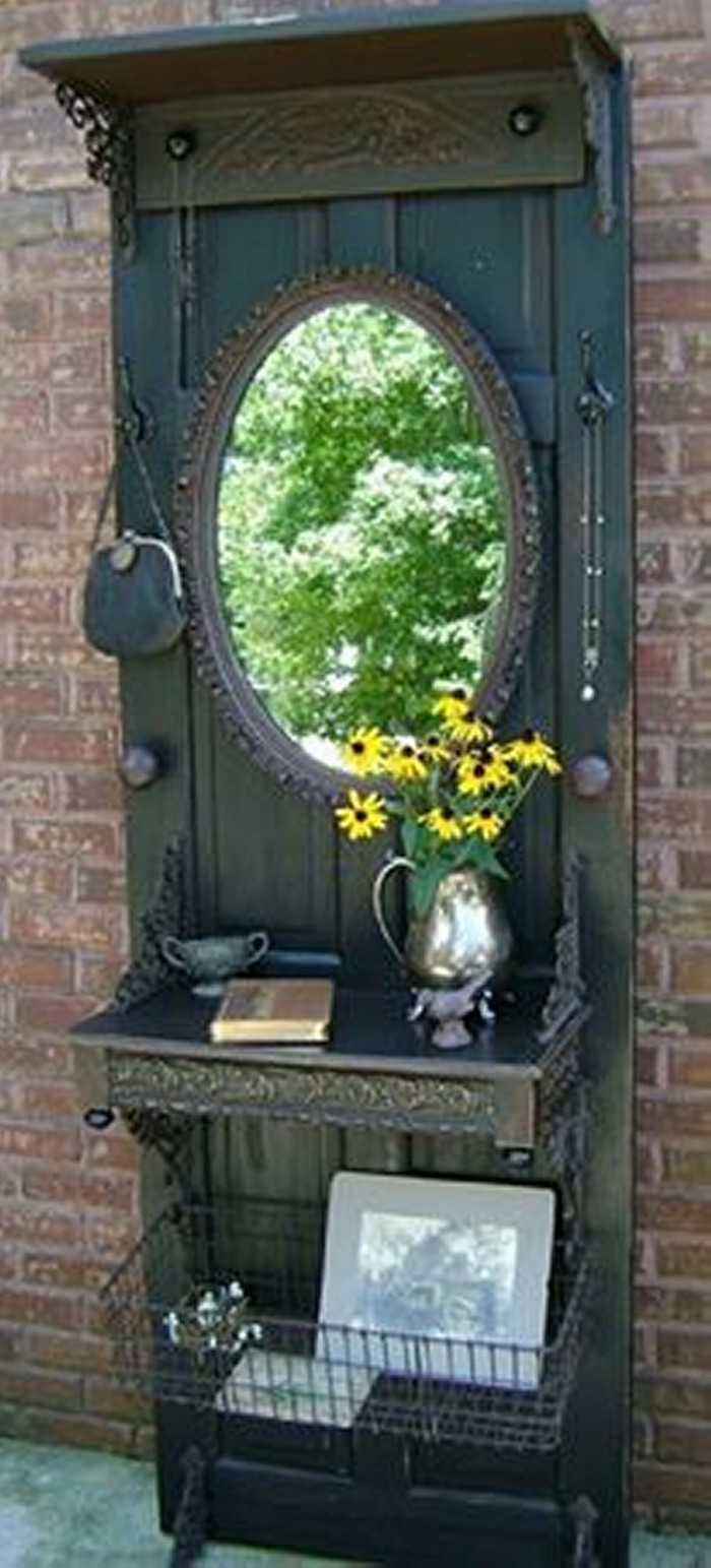 Upcycled Wood Door Vintage Craft