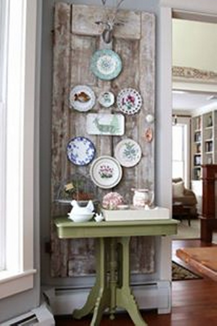 Upcycled Wood Door Vintage Home Decor