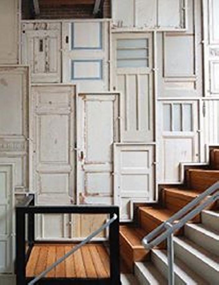 Upcycled Wood Door Wall Work