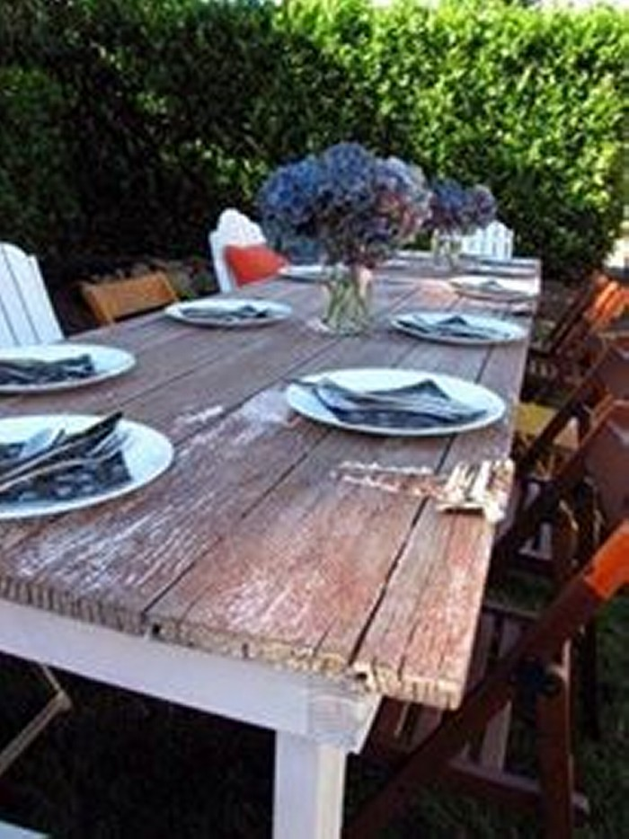 Upcycled Wood Doors Dining Table