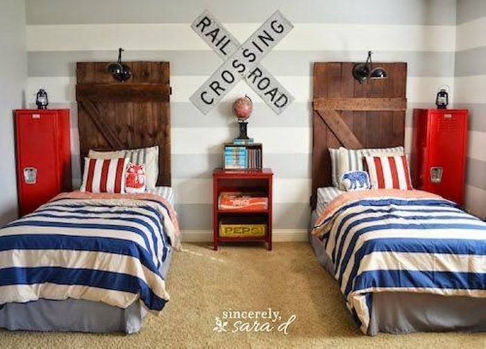 Upcycled Wood Doors Headboard