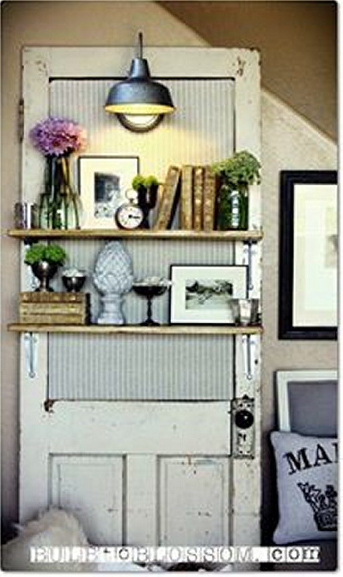 Upcycled Wood Doors Shelves