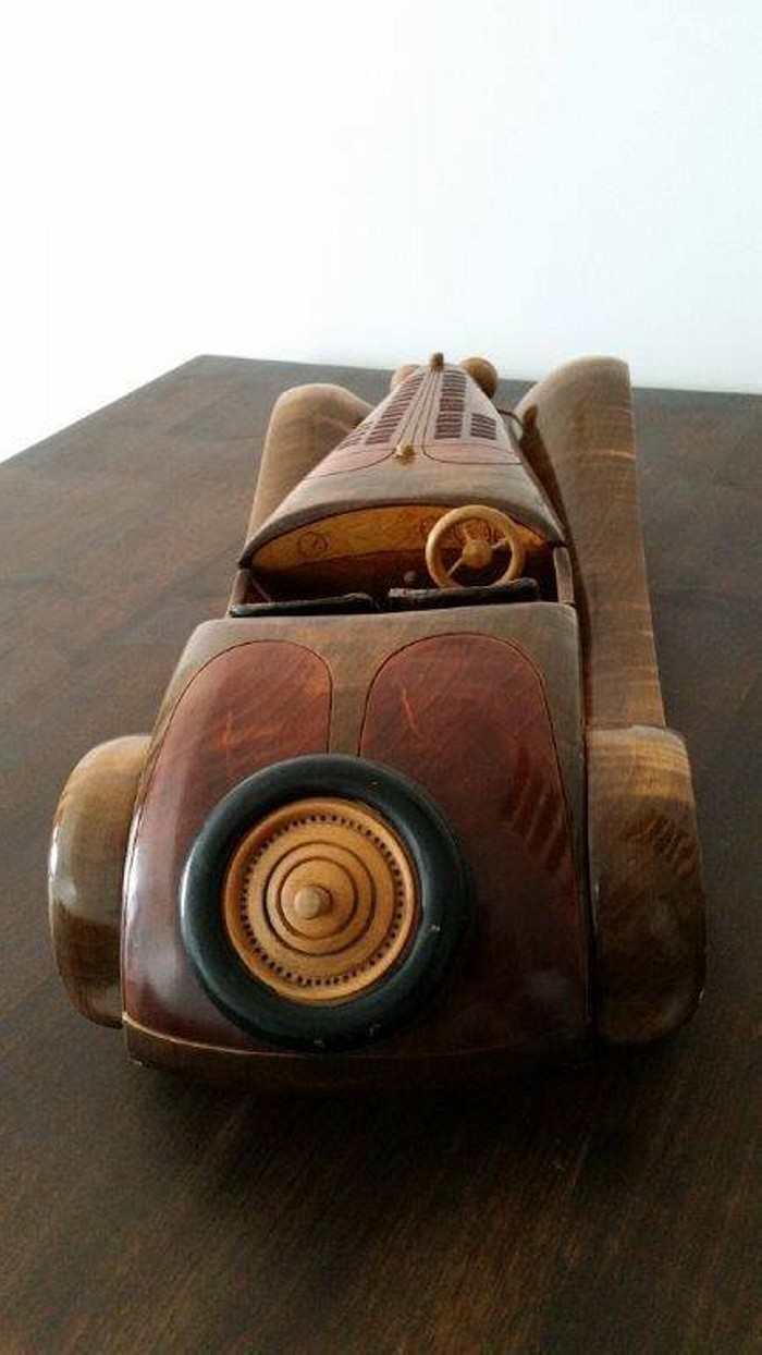 Upcycled Wooden Car