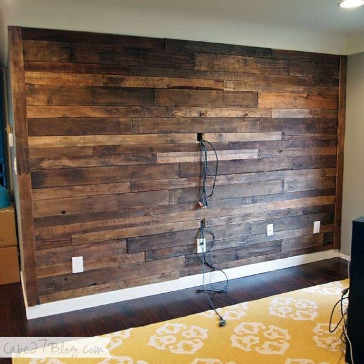 Painted Walls To Accent Pallet Wall: Accent Wall Out Of Wood Pallets
