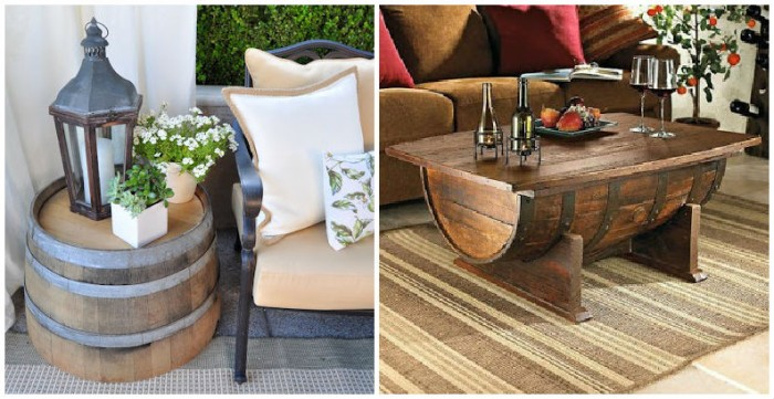 Wooden Barrel Furniture