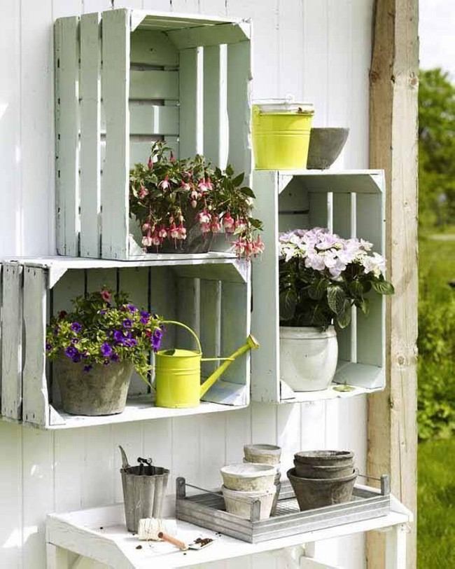 Wooden Boxes Planting Ideas