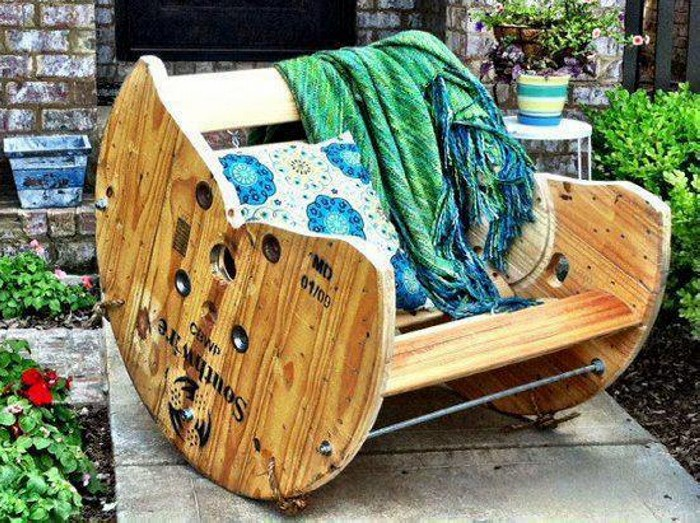 Wooden Cable Reel Chair