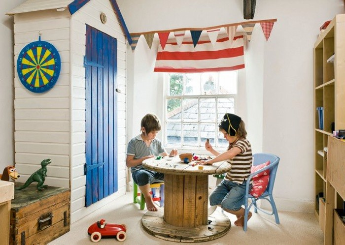 Wooden Cable Reel Kids Furniture