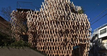 Wooden Sticks Architectural Project in Japan
