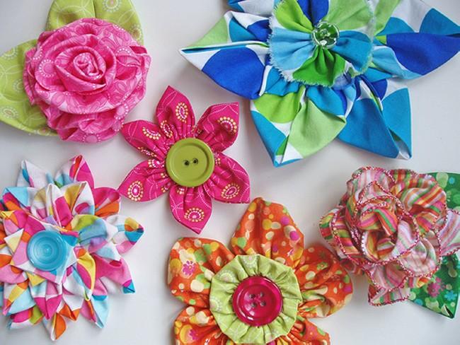 fabric flower designs