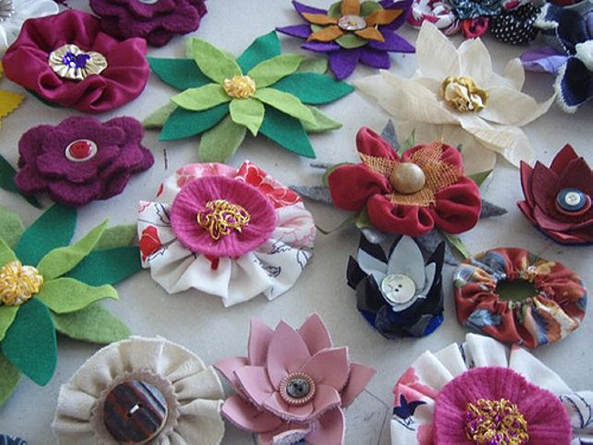 fabric flowers workshop RAC APRIl 2010 - 12