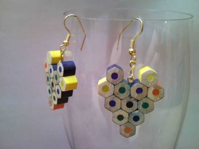 pencil crayon earrings