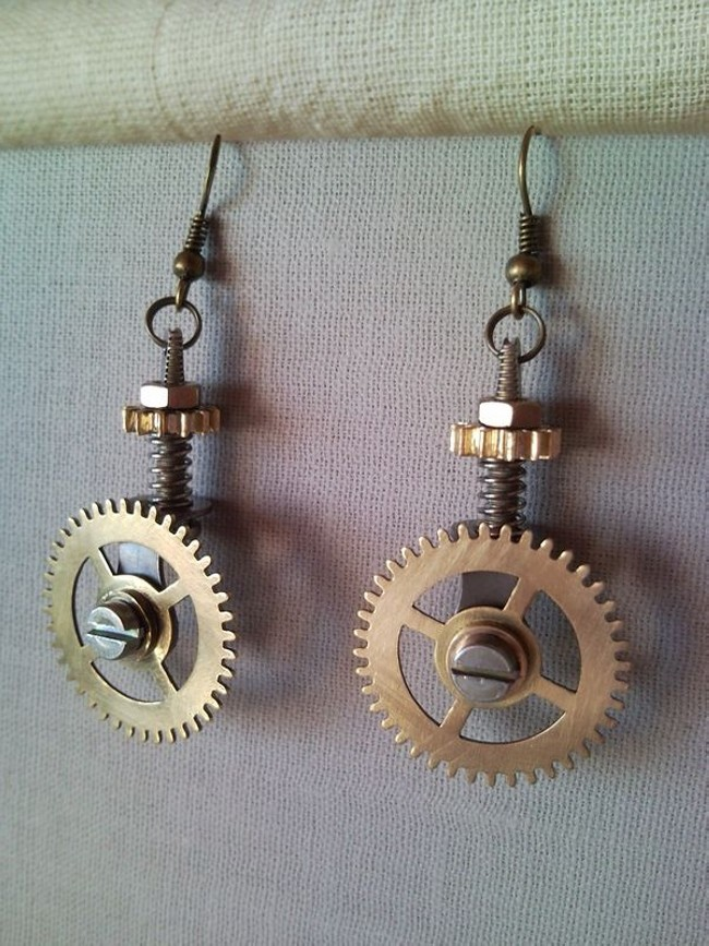 pizza cutter earrings