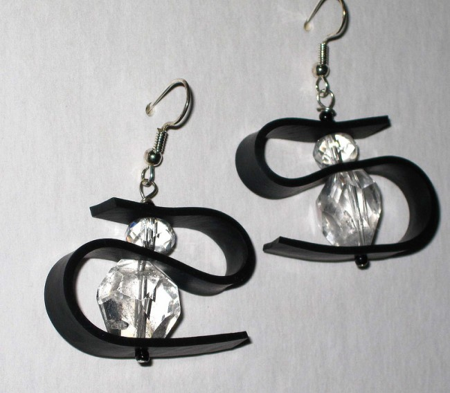 upcycled inner tube earrings