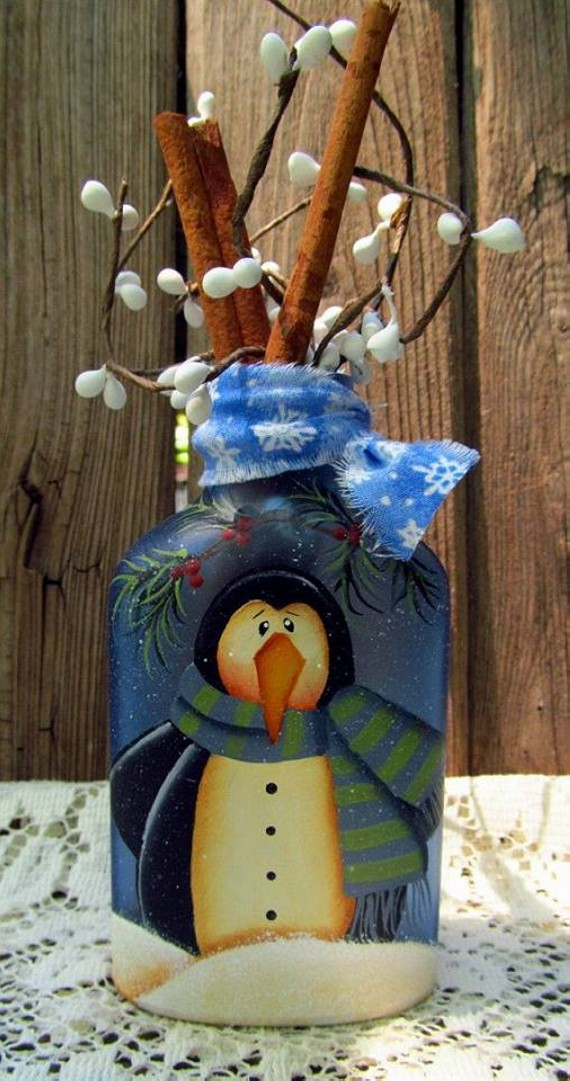 Bottle Crafts for Christmas