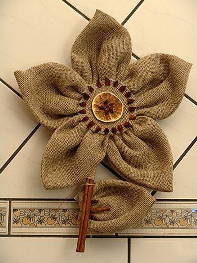 Burlap Fabric Upcycled Crafts Upcycle Art