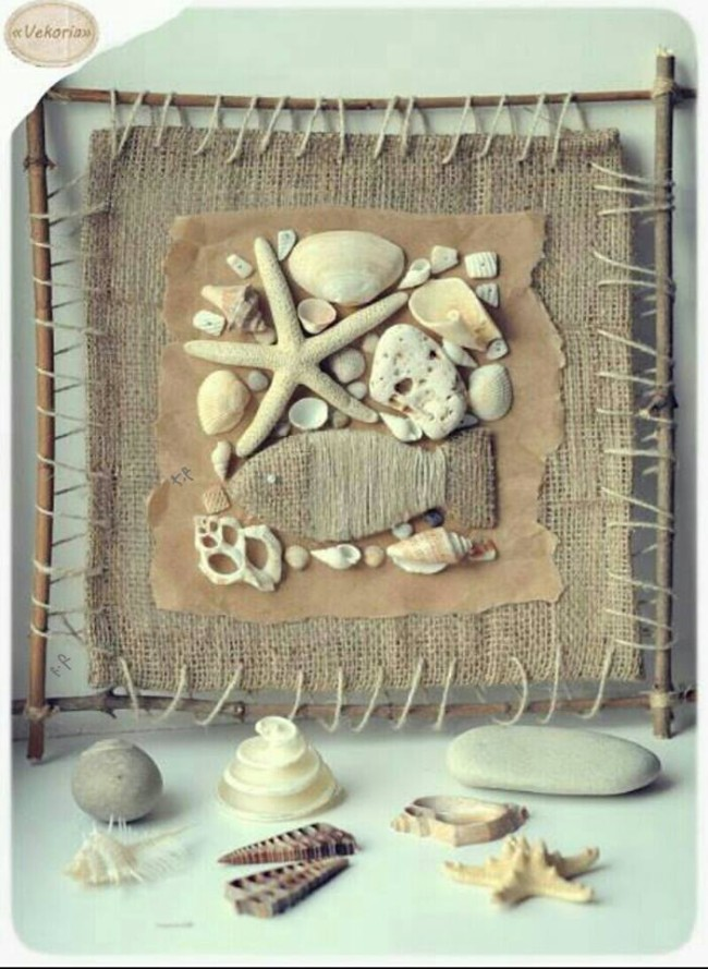 Burlap and Stones Decor