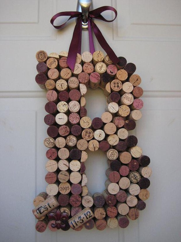 Cork Stoppers Wall Decor