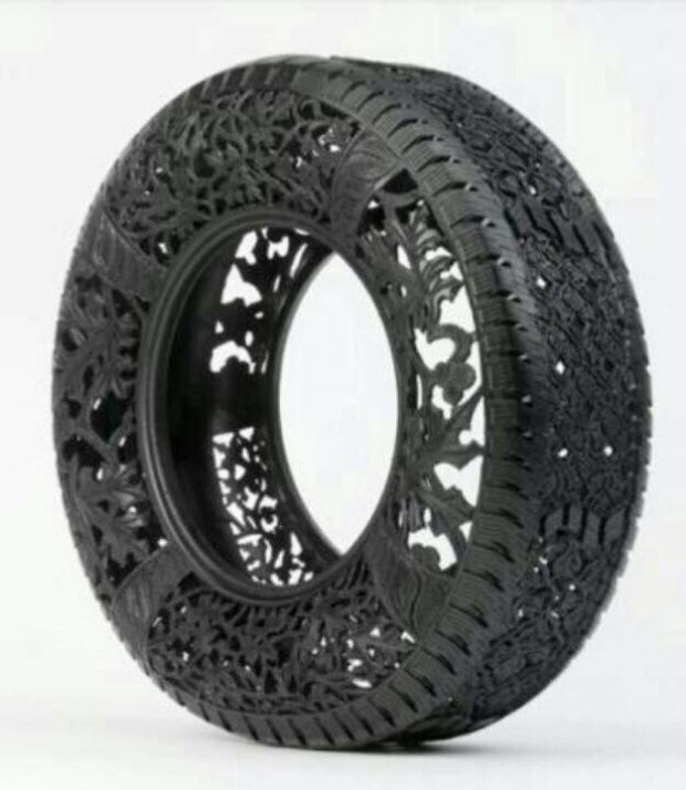 Different crafts made with old tires upcycle art Things to make out of old tires