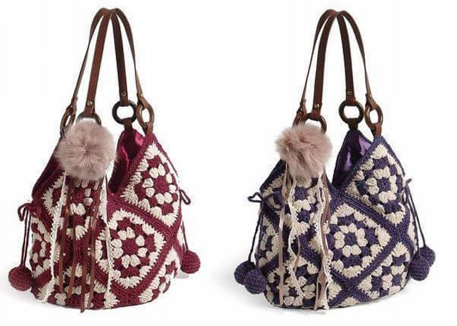 Crochet Hand Bag Pattern Idea