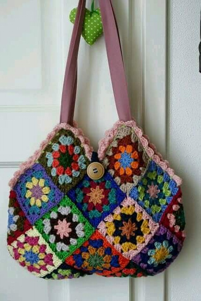 Crochet Project Bag : 50 Crochet Bag Patterns Upcycle Art