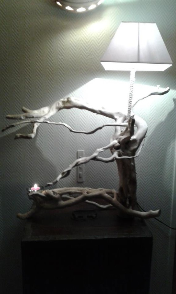 Driftwood Lamp Art