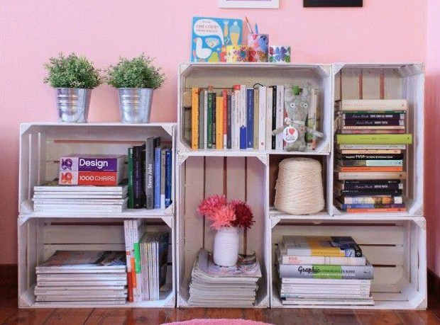 Fruit Boxes Book Shelf