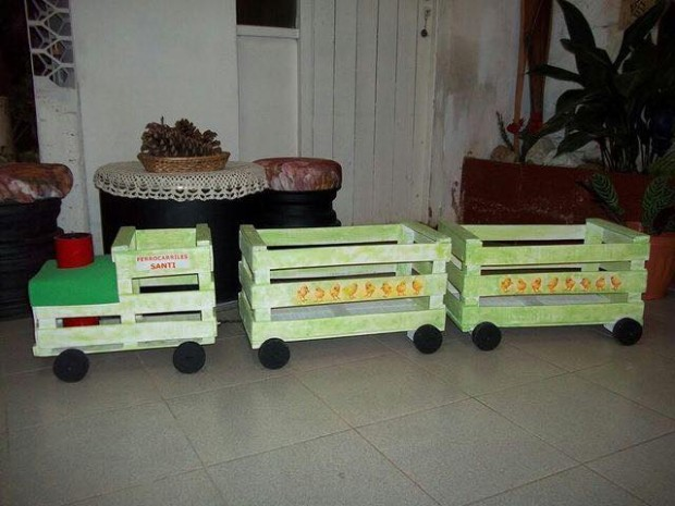 Fruit Boxes Train for Kids