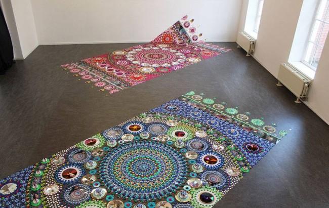 Glittering Gems Art Floor Decor