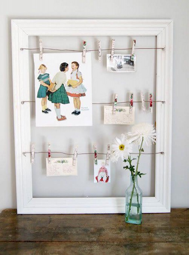 Ideas for Using Old Photo Frames