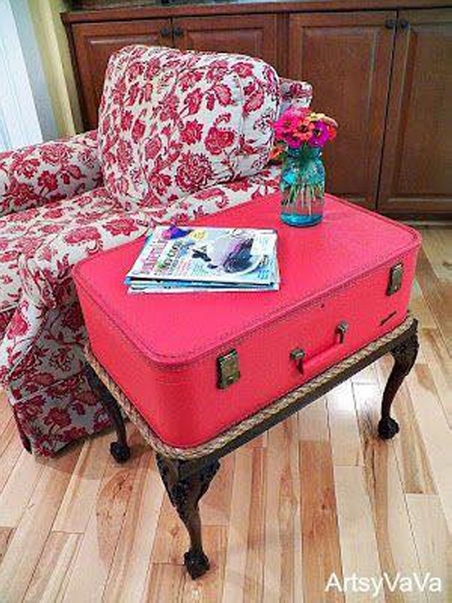 Ideas to Repurpose Old Suitcases