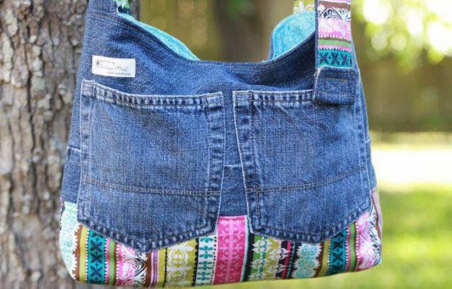 Old Jeans Upcycled Bag