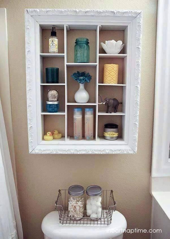Old Photo Frames Shelf