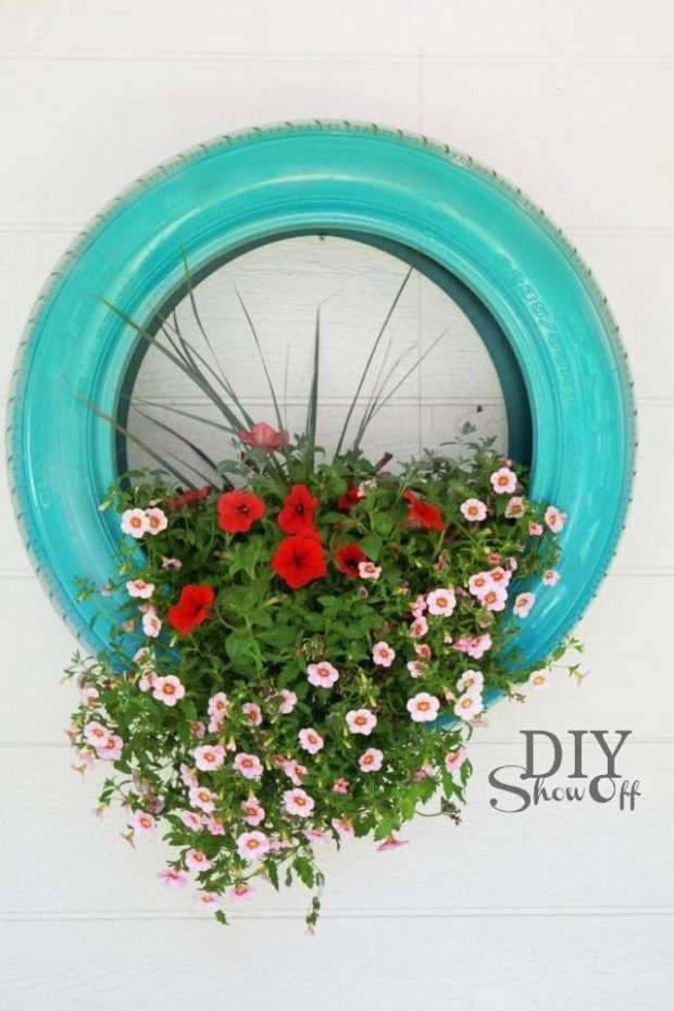 Old Tires Planter