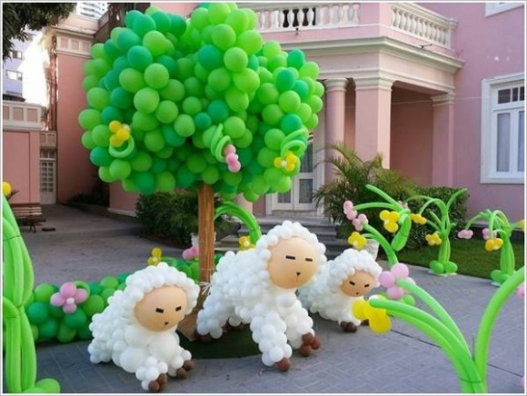 Patio Balloons Decor