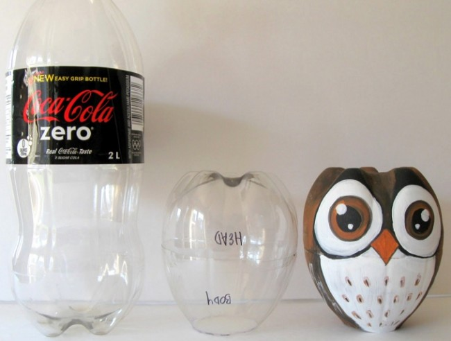 Plastic Bottles Upcycled to Adorable Owl