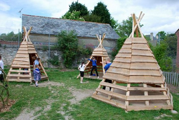 Recycled Old Pallets Teepee