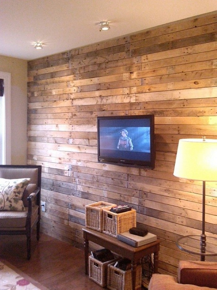 Recycled Old Pallets Wall Art