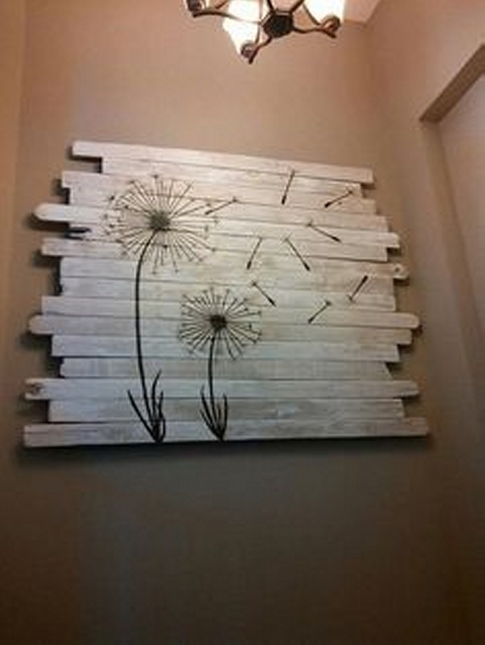Ingenious ways to recycle old pallets upcycle art for Wall decoration items