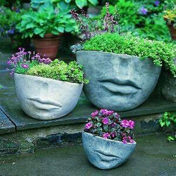 Reused Planter Pots