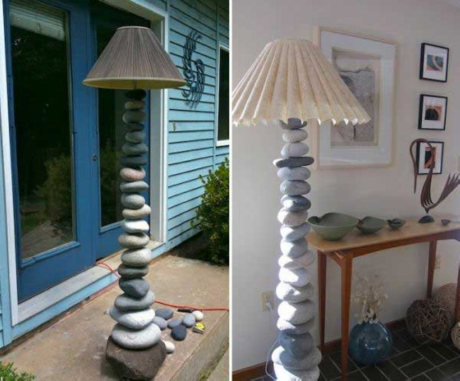 Stones Home Decorating Lamp