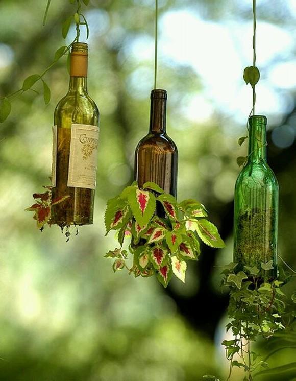 Upcycled Planter Pots Bottles