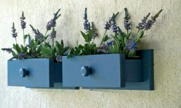 Upcycled Planter Pots Drawers