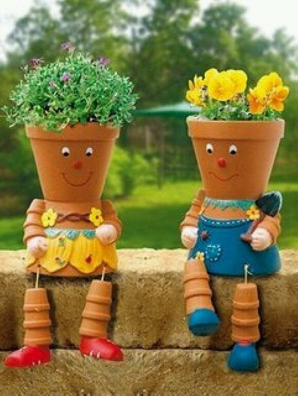 Upcycled Planter Pots Ideas