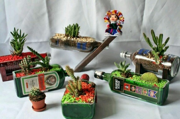 Upcycled Planter Pots