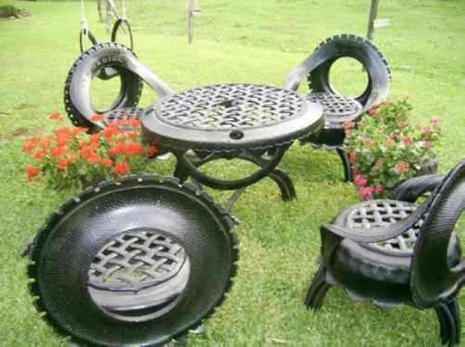Used Tires Upcycled Furniture